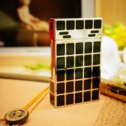 Bật Lửa S.T.Dupont kẻ ô vuông đen Mẫu 48 - Mã SP: BL00399