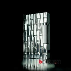 Bật lửa S.T.Dupont khắc  hình thanh trúc bạc - Mã SP: BL09987