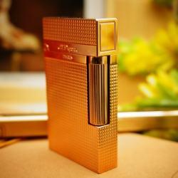 Bật Lửa S.T.Dupontkẻ caro màu đồng đỏ Mẫu 79 - Mã SP: BL00368