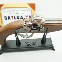 Bật lửa súng kiểu dáng cổ W181 2 lòng súng - Mã SP: BL00585