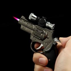 Bật lửa súng laze trạm khắc hoa văn tinh xảo HY-28 - Mã SP: BL09864