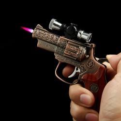 Bật lửa súng laze trạm khắc hoa văn tinh xảo Ver 2 - Mã SP: BL09876