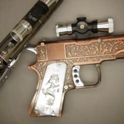 Bật lửa súng lục ngắn kèm laser - Lửa khò - MS55 028 - Mã SP: BL00590