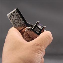 Bật lửa tia lửa điện Chief  sạc usb kiểu dáng Zippo siêu sang trọng - Mã SP: BL09324