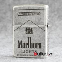 Bật lửa Zippo bạc cổ khắc thương hiệu Marlboro - Mã SP: BL10343