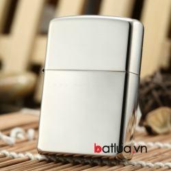 Bật lửa zippo chính hãng nguyên khối bạc trơn bóng - Mã SP: BL10056