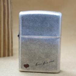 Bật lửa Zippo Chính Hãng bạc khắc chữ  love forever - Mã SP: BL09012