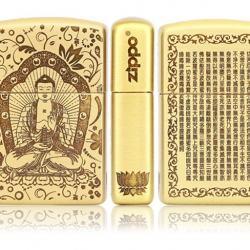 Bật lửa Zippo chất liệu đồng khắc Đức Phật Thích Ca Mâu Ni - Mã SP: BL09079