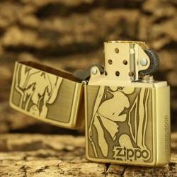 Bật lửa Zippo chất liệu đồng khắc hình cô gái sexy - Mã SP: BL09078