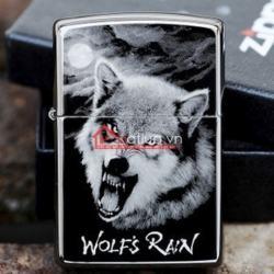 Bật lửa zippo chính hãng 150PT họa tiết sói đêm Garnett - Mã SP: BL09904