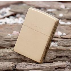 Bật lửa Zippo chính hãng 204 khắc Soild Brass - Mã SP: BL09709