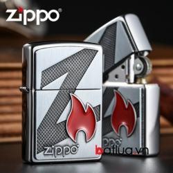 Bật lửa zippo chính hãng 29104 xuất nhật khắc nổi logo zippo - Mã SP: BL03084