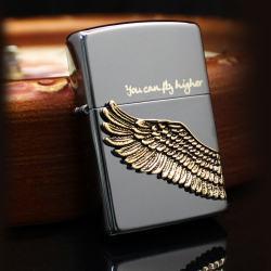 Bật lửa Zippo chính hãng Angel Wings màu đen - Mã SP: BL09167