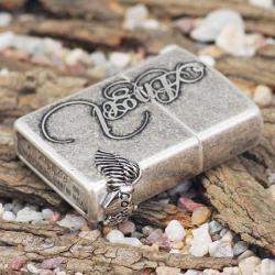 Bật lửa Zippo chính hãng bạc cổ Angel love - Mã SP: BL09100