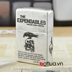 Bật lửa Zippo chính hãng bạc cổ The Expendables - Mã SP: BL10282