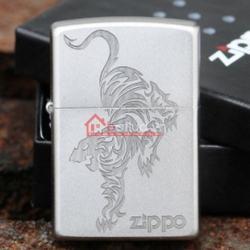 Bật lửa Zippo chính hãng bạc khắc hổ - Mã SP: BL09949
