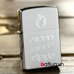 Bật lửa ZIppo chính hãng bạc khắc logo ZIPPO - Mã SP: BL10121