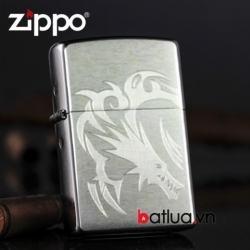 Bật lửa Zippo chính hãng bạc khắc rồng - Mã SP: BL10126