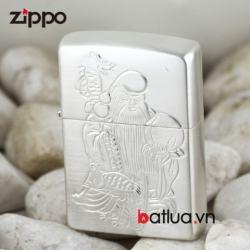 Bật lửa Zippo chính hãng bạc nguyên khối khắc hình ông Thọ - Mã SP: BL00452