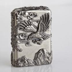 Bật lửa Zippo chính hãng bạc nguyên khối khắc thế phong thủy Đại bàng tung cánh - Mã SP: BL09432