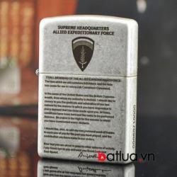 Bật lửa Zippo chính hãng bạc nhẹ khắc Eisenhower - Mã SP: BL10348