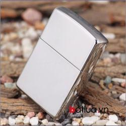 Bật lửa zippo chính hãng bạc trơn khắc chữ - Mã SP: BL10089