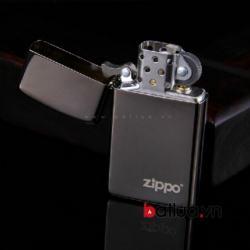 bât lửa zippo chính hãng bản hẹp mầu đen - Mã SP: BL03240