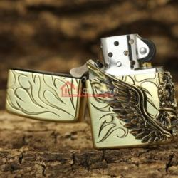 Bật lửa zippo chính hãng biểu tượng cướp biển cánh thiên thần - Mã SP: BL09970