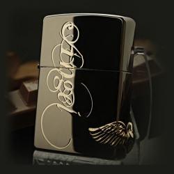 Bật lửa Zippo chính hãng black ice Love angel - Mã SP: BL09101