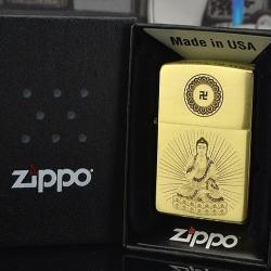 Bật lửa Zippo chính hãng chất liệu đồng khắc phật - Mã SP: BL09750