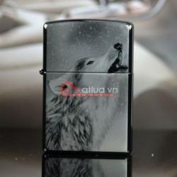Bật lửa Zippo chính hãng đen hình Sói tuyết hú - Mã SP: BL09961