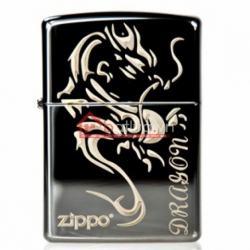 Bật lửa Zippo chính hãng đen tribal dragon - Mã SP: BL09967