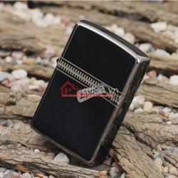 Bật lửa zippo chính hãng đen tuyền dây kéo cổ điển 21.088 - Mã SP: BL09881