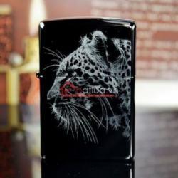 Bật lửa Zippo chính hãng đen tuyền hình chú Báo đêm - Mã SP: BL09956