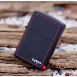 Bật Lửa Zippo chính hãng Đen viền đỏ - Mã SP: BL10175