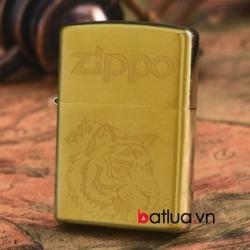 Bật lửa Zippo chính hãng đồng khắc hổ - Mã SP: BL10188