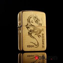 Bật lửa Zippo chính hãng đồng khắc rồng mẫu 007 - Mã SP: BL10011
