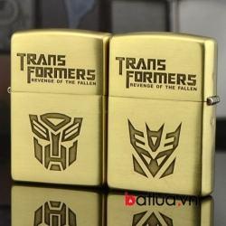 Bật lửa Zippo chính hãng đồng khắc Transformers - Mã SP: BL10184