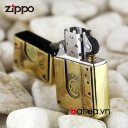 Bật lửa Zippo chính hãng Đồng nguyên khối phiên bản băng cassette 1932 - Mã SP: BL00450