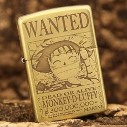 Bật lửa Zippo chính hãng đồng nhẹ phiên bản Luffy One Piece - Mã SP: BL09149