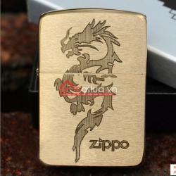 Bật lửa zippo chính hãng đồng xước họa tiết rồng - Mã SP: BL09906