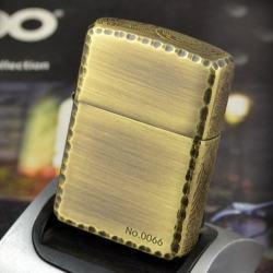 Bật lửa Zippo chính hãng đồng xước khắc cá chép bên sườn - Mã SP: BL09105