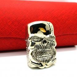 Bật lửa Zippo chính hãng Ghost Rider Demon Skull tin Cangyin hình đầu lâu - Mã SP: BL01860