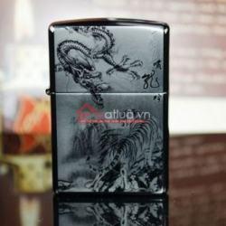 Bật lửa Zippo chính hãng hình đấu chiến Rồng Hổ - Mã SP: BL09959