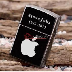 Bật lửa zippo chính hãng hình táo Apple Steve Jobs - Mã SP: BL09885