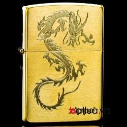 Bật lửa zippo chính hãng họa tiết rồng Đồng - Mã SP: BL10138