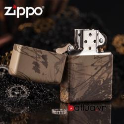 Bật lửa Zippo chính hãng họa tiết tranh sơn mài - Mã SP: BL00440
