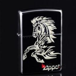 Bật lửa zippo chính hãng in hình ngựa - Mã SP: BL10105