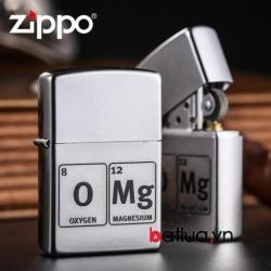 Bật lửa Zippo chính hãng khắc nhẹ công thức OMG - Mã SP: BL00441