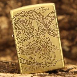 Bật lửa Zippo chính hãng khắc rồng quấn quanh dũng mãnh - Mã SP: BL09431